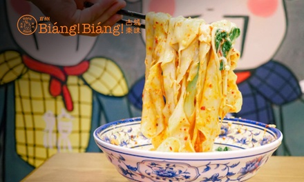 Noodle Dish for One ($9.90) or Two People ($19.80) at Biang Biang, Three Locations (Up to $33 Value)