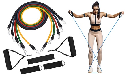 One or Two Tora Fitness 11-Piece Tora Fitness Resistance Band Sets