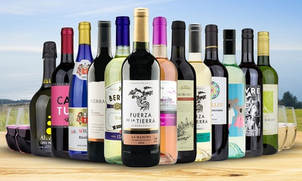 13 Bottles of Wine with Four Govino Glasses from Heartwood & Oak (Up to 80% Off)