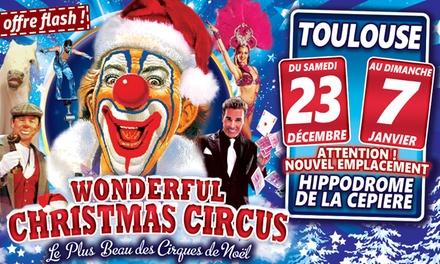 1 place pour le Grand Cirque de Noël, catégorie et date au choix, dès 4,90 € à lHippodrome de Toulouse