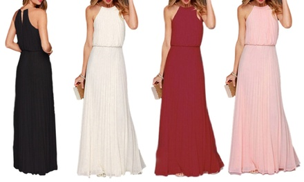 Women's Summer High Neck Maxi Dress