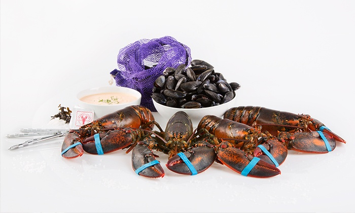 Get Maine Lobster: Lobster Dinner or $99 for $200 Worth of Live Lobster and Seafood from Get Maine Lobster (Up to 51% Off)