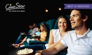CineStar: 5 CineStar Kinogutscheine für alle 2D-Filme inkl. Film- und Sitzplatzzuschlägen bei CineStar (50% sparen*)