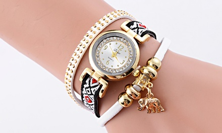 Relojes Elephant Charm bañados en oro y adornados con cristales de Swarovski Elements® por 12.79 € (78% de descuento)