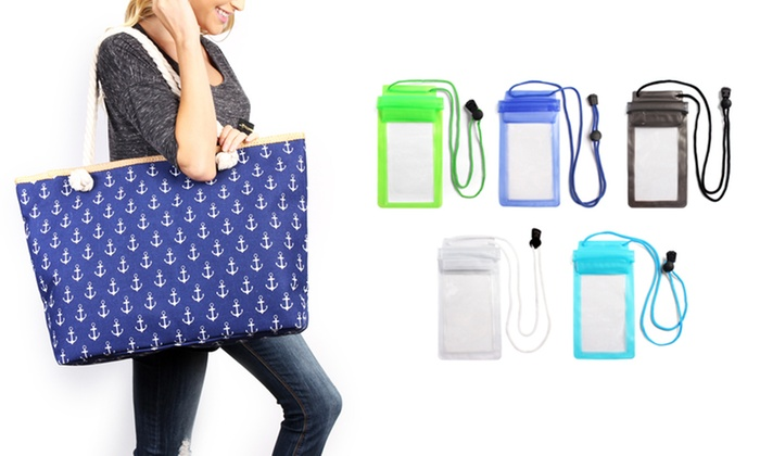 Print Tote Bag and Pouch Set (2-Piece)