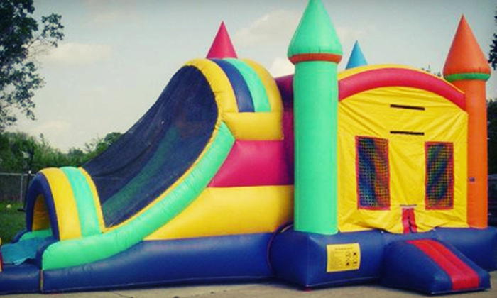 Kandiland Jumpers - Houston: Six-Hour Bounce House and Snow-Cone Machine Rental with Optional Popcorn Machine from Kandiland Jumpers (Up to 51% Off)