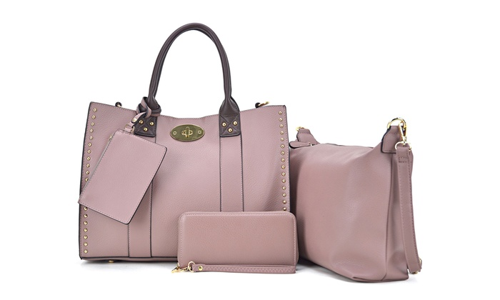 456f899a1725 MK Belted Collection Handbag, Crossbody, Wallet, and Purse Set (4-Pc ...
