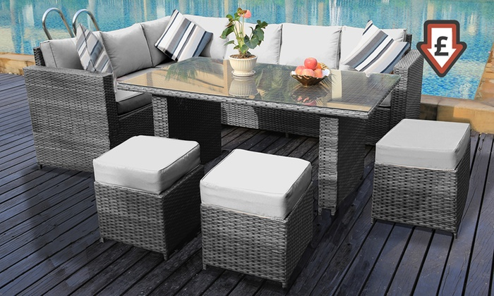 Borneo Garden Furniture Asda outdoor living - deals & coupons | groupon