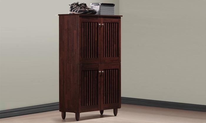 Fernanda Oak Brown Shoe Cabinets