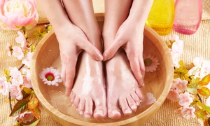 Pink Me Up Nail & Spa Boutique: 1 or 2 Mani-Pedis, 1 or 2 Gel Manicures, or 1 Pedicure at Pink Me Up Nail & Spa Boutique (Up to 38% Off)
