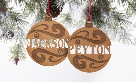 One Personalized Wood Christmas Ornament from Personalization Mall (71% Off)