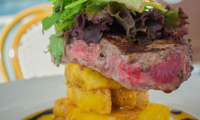 Buffalo Bar & Grill - Princes Wharf - Buffalo Bar & Grill - Princes Wharf: Two-Course Waterfront Lunch for Two ($45), Four ($90) or Six People ($135) at Buffalo Bar & Grill (Up to $312 Value)