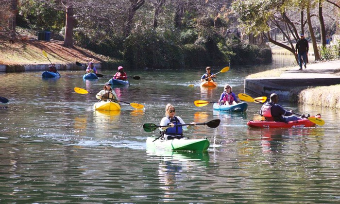 Texas Pack and Paddle - San Antonio: Three-Hour Kayaking Class or Four-Hour Guided Kayak Tour for One, Two, or Four from Texas Pack & Paddle (Up to 56% Off)