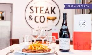 Steack & Co: Menu Entrée plat dessert pour 2 personnes à 39 € au restaurant Steack & Co