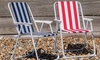 Harbour Housewares Two, Four or Six Folding Deck Chairs