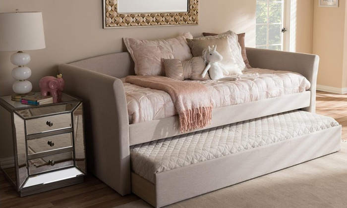 ... Camino Upholstered Daybed With Guest Trundle Bed ...