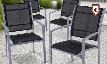 Set da 2 o 4 sedie da giardino groupon for Groupon giardino