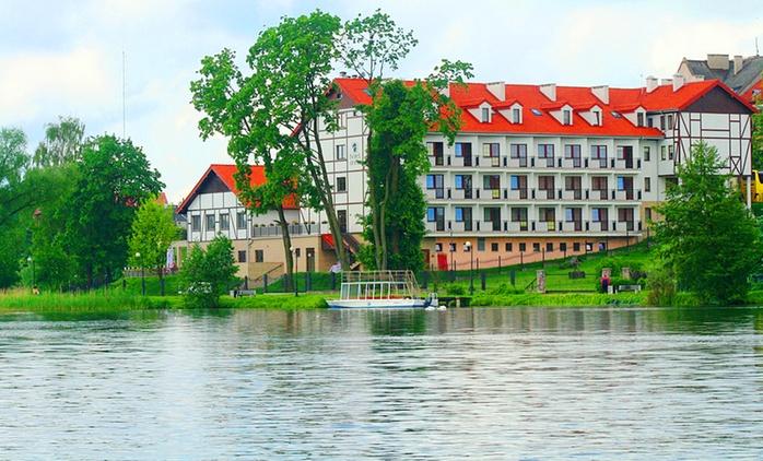 Mrągowo: 1-3 noce dla 2 osób ze śniadaniami i obiadokolacjami, parkingiem i więcej w Hotelu Anek