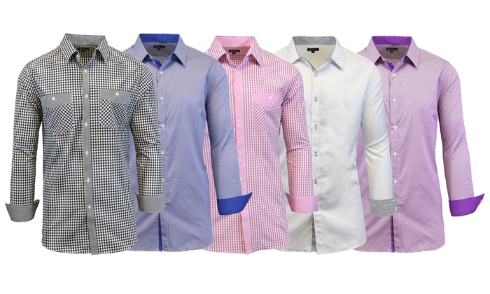 Men's Slim-Fit Button-Down Shirts