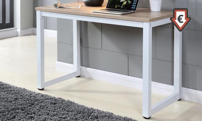 Escritorio para ordenador de madera de roble y patas de Niveladores para muebles