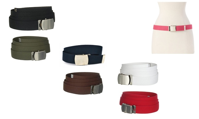 Military Canvas Web Belts (3-Pack)