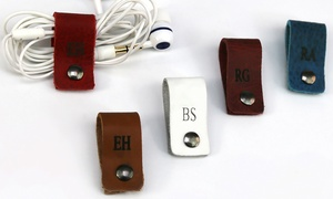 Monogram Online - Personalized Leather Headphone Cable Organizer