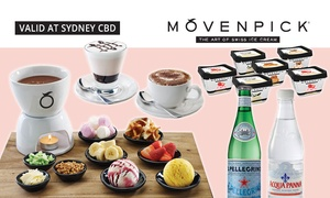 Mövenpick Ice Cream: Fondue, Drinks and Ice Cream Tubs for Two ($39) or Four People ($49) at Mövenpick, Sydney CBD (Up to $104.75 value)