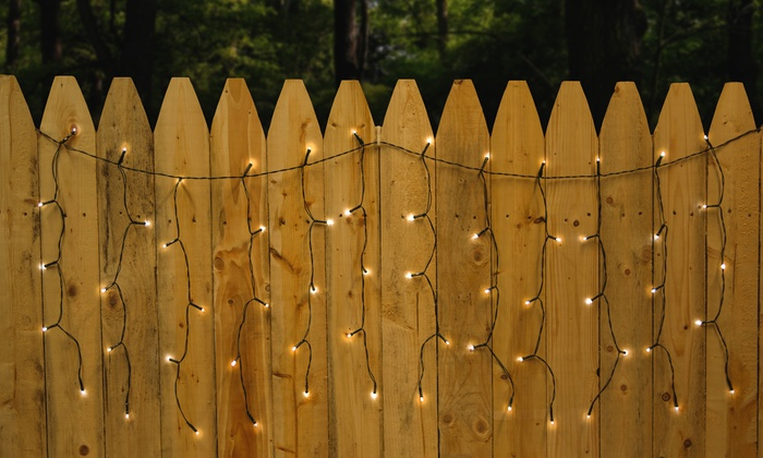 Solar Curtain String Lights : 100-LED Solar String Lighting Groupon Goods