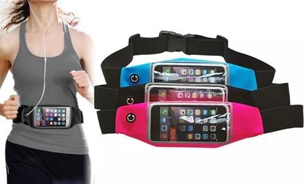 1 of 2 waterdichte sportriemen voor je smartphone in kleur naar keuze vanaf € 5,99 tot korting