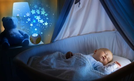 Playbees Sound-Activated Night Light Projector and Sound Machine