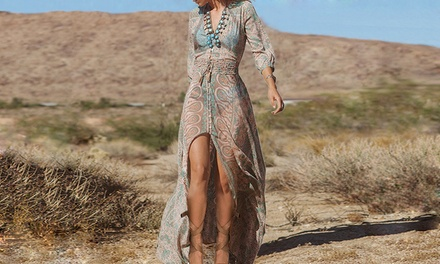 Bohemian Long Beach Dress