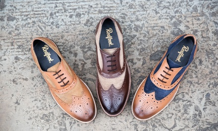 Redfoot Leather and Suede Brogue