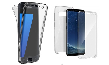 Coque de protection intégrale en silicone pour Samsung Galaxy S6/S6EDGE/S7/S7EDGE/S8/S8+/NOTE 8