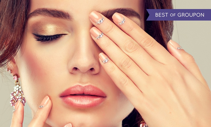 Adoré Hair & Beauty - Capel Street, Dublin 1: Shellac Manicure, Eyebrow Threading and Tint with Eyelash Tint or Both at Adoré Hair & Beauty (Up to 57% Off)