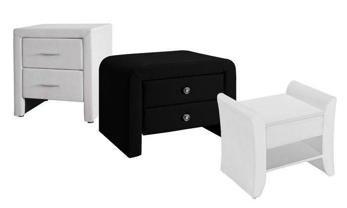 table de chevet simili cuir groupon shopping. Black Bedroom Furniture Sets. Home Design Ideas