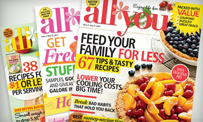 """All You - New York City: $24 for 24 Issues of """"All You"""" Magazine ($39.90 Value)"""