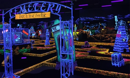 4 Rounds of Mini Golf & Arcade Game Card or Mini Golf & Laser Tag for 4 at Monster Mini Golf (Up to 42% Off)