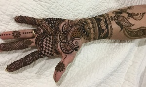 Charvi Fashion: 30-Minute Henna Art Session from Charvi Fashion (48% Off)