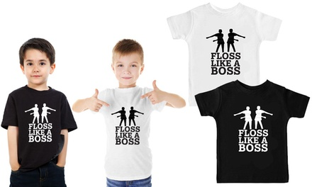 One or Two Floss Like a Boss Kids' TShirts