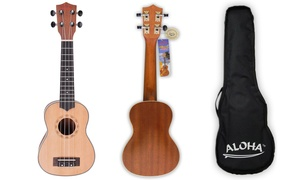 Aloha Soprano Ukulele with Gig Bag