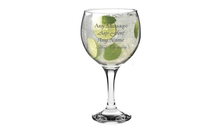 One, Two or Four Engraved Spanish Balloon Gin and Tonic Glasses at CNC Group