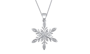 Diamond Accent Pendant in Rhodium Plating by Brilliant Diamond