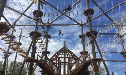 Two Hours of High Ropes Course and Ziplining for Two, Four or Six People at High Trek Adventures (Up to 37% Off)