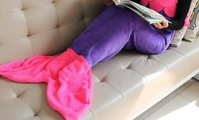 Mermaid Tail Fleece Blanket in Choice of Colour for AED 79 (56% Off)
