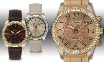 Set of 3 Geneva Platinum Women's Watches