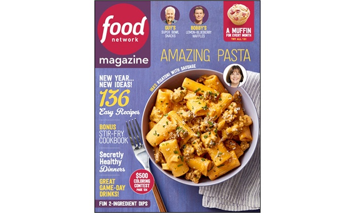 Food network magazine food network magazine groupon 58 off one year subscription to food network magazine forumfinder Image collections