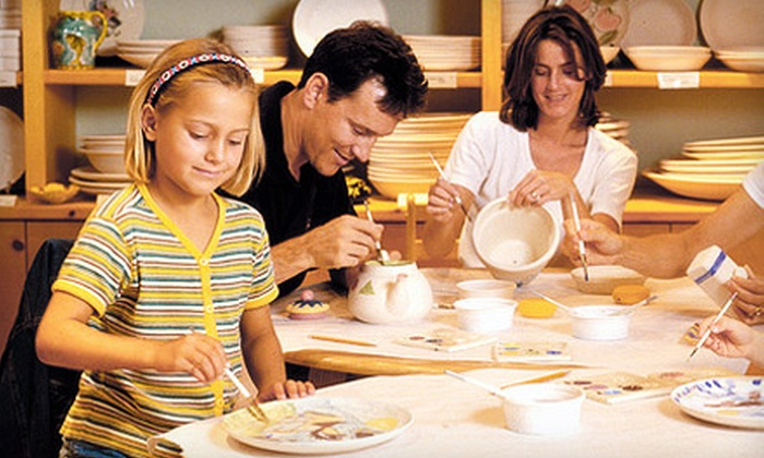 Color Me Mine - Multiple Locations: $15 for Paint-Your-Own-Pottery Studio Fees for Up to Five at Color Me Mine (Up to $50 Value)