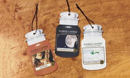 Up to Twelve Yankee Candle Car Air Fresheners or Car Vent Sticks from £2.99
