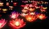 12 lanterne galleggianti a fiore