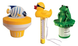 Animal-Themed Pool Thermometers and Chlorinators